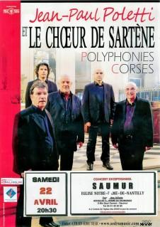 Concert : Jean-Paul Poletti & le Choeur de Sartène © Gerard Sedru Music