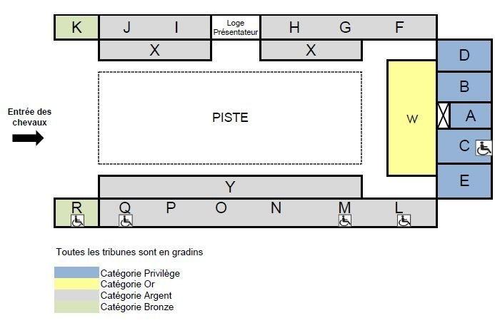 Plan du Grand Manège - Gala du Cadre Noir